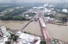 Thành phố Hồ Chí Minh hợp long cầu Phước Lộc sau 8 năm triển khai