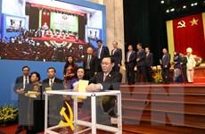 [Photo] Báo cáo kết quả Hội nghị lần thứ nhất BCH Đảng bộ Hà Nội