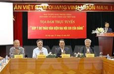 Tọa đàm trực tuyến 'Góp ý dự thảo Văn kiện Đại hội XIII của Đảng'