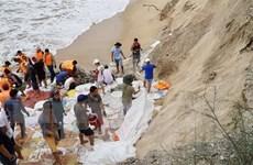 Hàng nghìn lượt người khắc phục sạt lở bờ biển ở Thừa Thiên-Huế