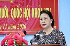 Chủ tịch Quốc hội Nguyễn Thị Kim Ngân tiếp xúc cử tri huyện Phong Điền