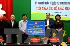 Trao quà hỗ trợ người dân bị thiệt hại do bão lũ ở Thừa Thiên-Huế