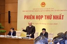 Phiên họp thứ nhất Tiểu ban Văn bản pháp luật Hội đồng Bầu cử Quốc gia