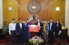 Tiếp nhận 10 tỷ đồng ủng hộ các tỉnh miền Trung, Tây Nguyên