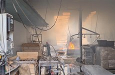 Bình Dương: Hỏa hoạn tại công ty gỗ, một phần nhà xưởng bị thiêu rụi