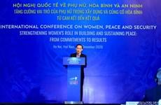 Thúc đẩy chương trình nghị sự toàn cầu về phụ nữ, hòa bình và an ninh