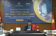 Kết nối doanh nghiệp bao bì Việt Nam với nhà nhập khẩu Thổ Nhĩ Kỳ