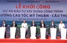 Thủ tướng phát lệnh khởi công dự án đường cao tốc Mỹ Thuận-Cần Thơ