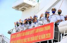 Hình ảnh đoàn công tác Vùng 4 Hải quân lên đường ra Trường Sa