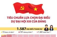 [Infographics] Tiêu chuẩn lựa chọn đại biểu dự Đại hội XIII của Đảng