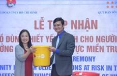 UNFPA hỗ trợ 3.700 bộ đồ dùng cho người cao tuổi ở 3 tỉnh miền Trung