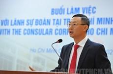 Gặp mặt đại diện Lãnh sự các nước tại Thành phố Hồ Chí Minh và Đà Nẵng