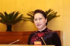 Chủ tịch Quốc hội Nguyễn Thị Kim Ngân trả lời phỏng vấn của TTXVN