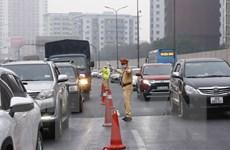 Điều tiết giao thông trên tuyến Pháp Vân-Cầu Giẽ trong ngày mùng 5 Tết