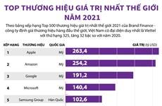 [Infographics] Những thương hiệu giá trị nhất thế giới năm 2021