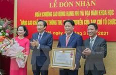 Tạp chí Tổ chức Nhà nước đón nhận Huân chương Lao động hạng Nhì