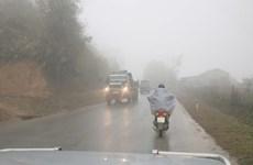 Bắc Bộ có mưa nhỏ và sương mù, trời rét về đêm và sáng sớm