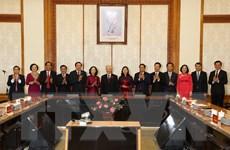Trao quyết định phân công Trưởng ban Tổ chức và Trưởng ban Dân vận TW