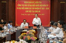 Phó Chủ tịch QH Trần Thanh Mẫn kiểm tra việc chuẩn bị bầu cử ở Long An