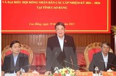 Phó Chủ tịch Quốc hội kiểm tra công tác bầu cử tại Cao Bằng