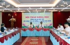Hội thảo 'Đồng chí Hà Huy Tập với công tác tư tưởng, lý luận của Đảng'