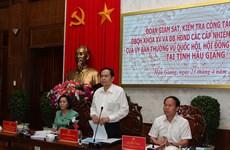 Phó Chủ tịch Quốc hội kiểm tra công tác chuẩn bị bầu cử tại Hậu Giang