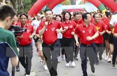 Sôi nổi Ngày chạy Olympic vì sức khỏe toàn dân ở thủ đô Hà Nội