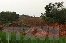 Sạt lở hồ chứa chất thải của nhà máy tuyển quặng sắt ở Yên Bái