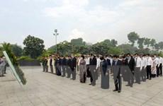 Dâng hương Chủ tịch Hồ Chí Minh, Chủ tịch Tôn Đức Thắng và các liệt sỹ