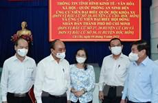 Chủ tịch nước Nguyễn Xuân Phúc làm việc với huyện Củ Chi và Hóc Môn