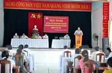 Nhiều địa phương tổ chức hội nghị tiếp xúc cử tri, vận động bầu cử