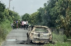 An Giang: Điều tra vụ cháy xe taxi khiến một người tử vong
