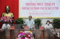 Báo cáo công tác bầu cử tại Hậu Giang, Bình Dương, Vĩnh Long, Lào Cai