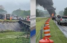 Mỹ: Nhiều trẻ em thiệt mạng trong vụ tai nạn liên hoàn giữa 15 xe ôtô