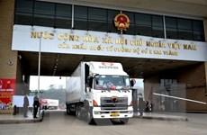 Tổng giá trị hàng hóa xuất nhập khẩu qua cửa khẩu Lào Cai tăng mạnh