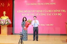 [Photo] Trao quyết định bổ nhiệm Phó Chánh Văn phòng Trung ương Đảng