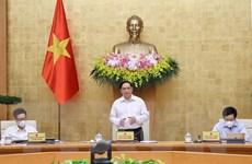 Hình ảnh Thủ tướng chủ trì phiên họp Chính phủ thường kỳ tháng Sáu