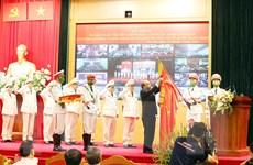 Lực lượng an ninh nhân dân đón Huân chương Bảo vệ Tổ quốc hạng Nhất