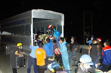 Nghệ An dùng xe trung chuyển giúp công dân từ các tỉnh phía Nam về quê