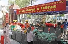 Ấm lòng 'gian hàng 0 đồng' trong những ngày giãn cách ở Hà Nội