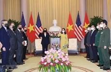Phó Chủ tịch nước đón, tiếp Phó Tổng thống Hoa Kỳ Kamala Harris