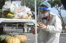 Công an Đà Nẵng triển khai 30 điểm bán hàng trên container tại 4 quận