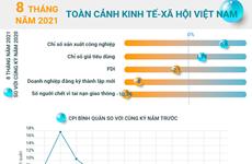 [Infographics] Toàn cảnh kinh tế-xã hội Việt Nam 8 tháng qua