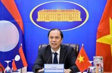 Tham khảo Chính trị Việt Nam-Lào lần thứ 6 theo hình thức trực tuyến