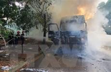 Thanh Hóa: Xe đầu kéo bất ngờ bốc cháy tại Khu công nghiệp Tây Bắc Ga