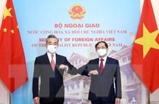 Bộ trưởng Bùi Thanh Sơn hội đàm với Bộ trưởng Trung Quốc Vương Nghị