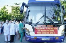 Đoàn y, bác sỹ Điện Biên lên đường hỗ trợ Bình Dương chống dịch