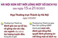 [Infographics] Hà Nội xem xét nới lỏng một số dịch vụ sau 15/9 và 21/9