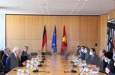 Hình ảnh Chủ tịch nước Nguyễn Xuân Phúc gặp Tổng thống Đức
