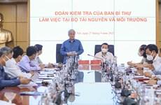 Đoàn kiểm tra của Ban Bí thư làm việc với Bộ Tài nguyên và Môi trường